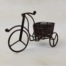 Creative Home Table Decoration Iron Tricycle Model Rickshaw Metal Crafts