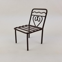 custom metal craft 3D iron chair model for office household decoration gift