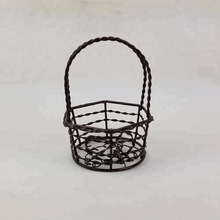 home decorative iron basket craft made of cast iron