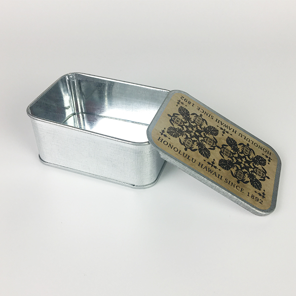rectangle metal saffron tin box empty tinplate case