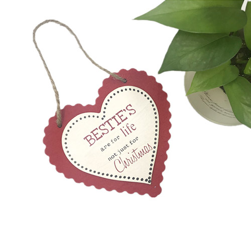 Red Love Shape Hanging Decoration